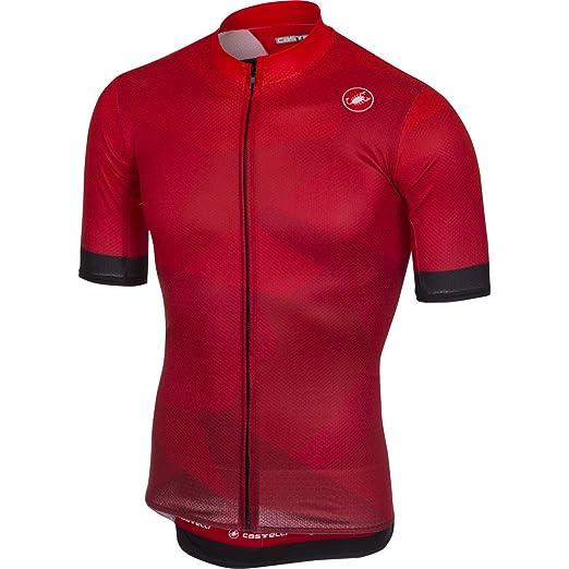 Amazon.com  Castelli Men s Flusso Full Zip Bike Jersey  Sports   Outdoors f3194ca3d