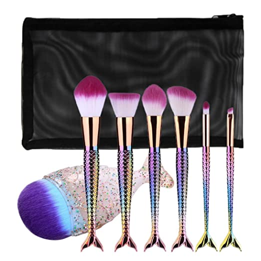 Mitsutomi 2017 Makeup Brush Set Brush,Eyebrow Eyeliner Blush Cosmetic Concealer Brushes (color Mermaid) (C)