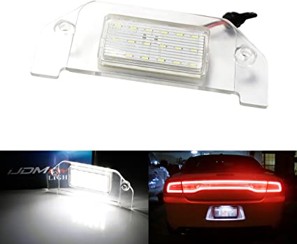 White LED License Plate Light Lamp fits Dodge Charger 2015 2016 2017 2018