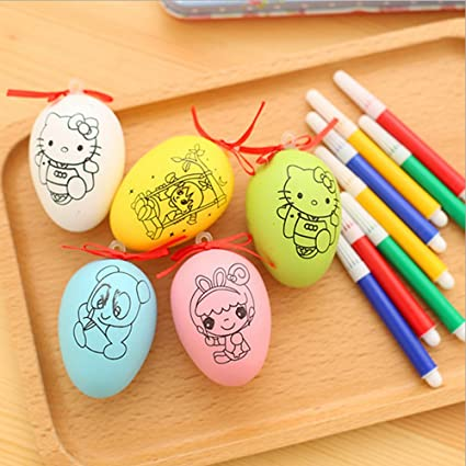 Bebé Kid tuercas dibujo pintura de huevos de Pascua con las ...