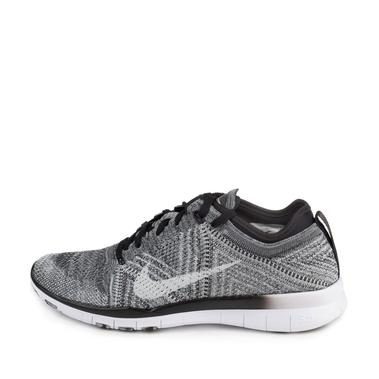 7db6a6b3eda3 Galleon - Nike Womens WMNS Free TR Flyknit Black White-Wolf Grey Fabric  Size 9.5