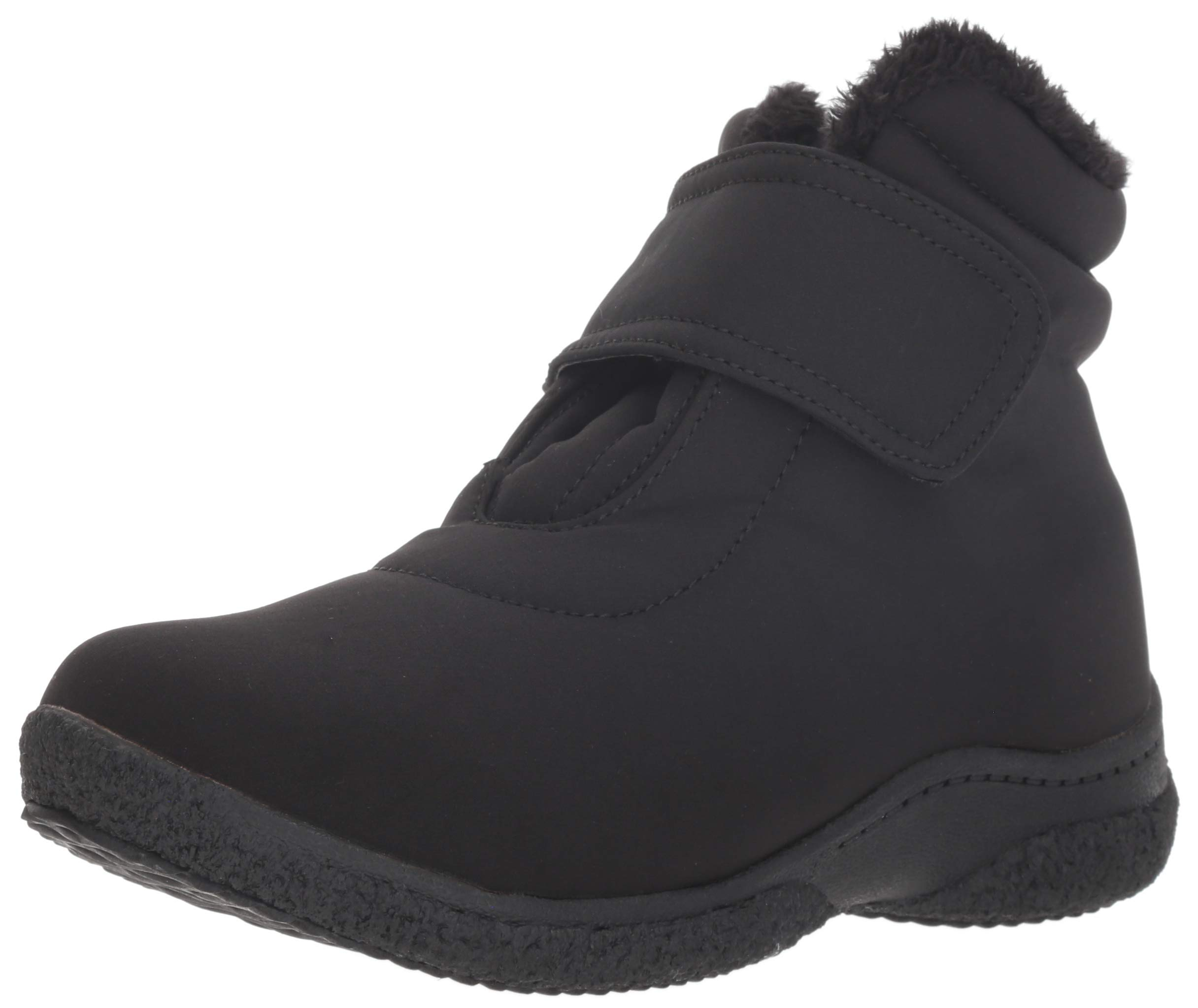 Propet Women's Madi Ankle Strap Snow Boot, Black, 8H Wide Wide US by Propét