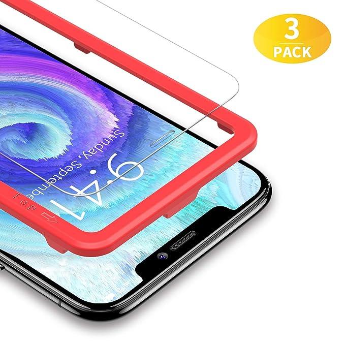 37 opinioni per BANNIO [3 Pacco Pellicola Protettiva per iPhone X iPhone XS iPhone 10,[Telaio di