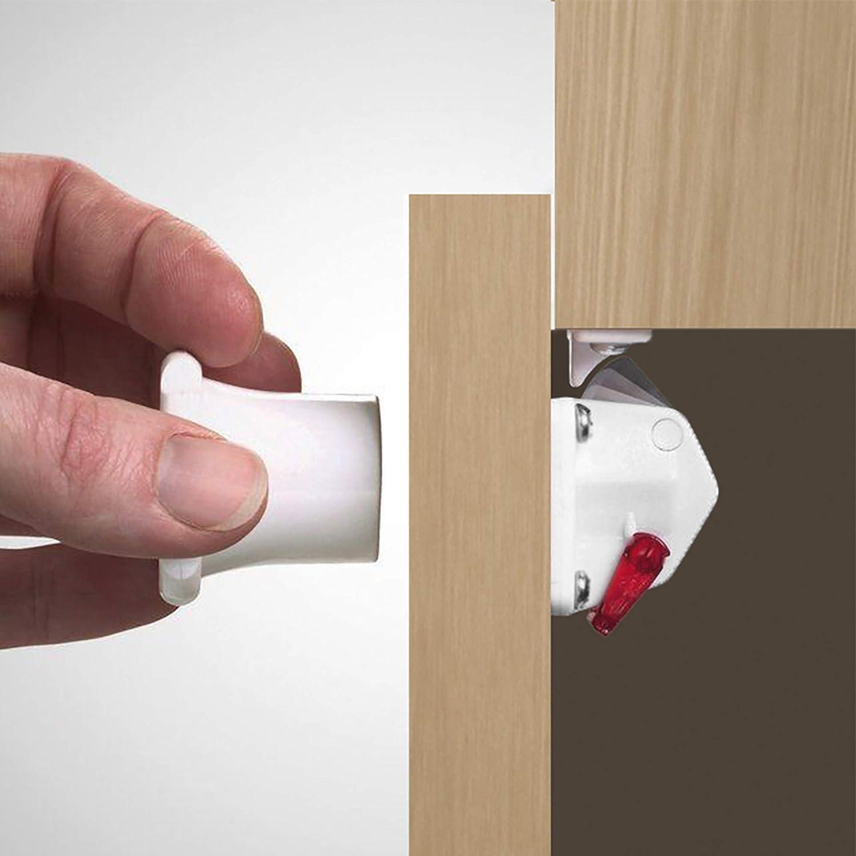 Yumcute 10pcs Lultima versione Baby armadio serrature per cassetti e armadi Super appiccicoso Blocco di Sicurezza per Serrature Autoadesive Non c/è bisogno di perforare Easy Install in Seconds
