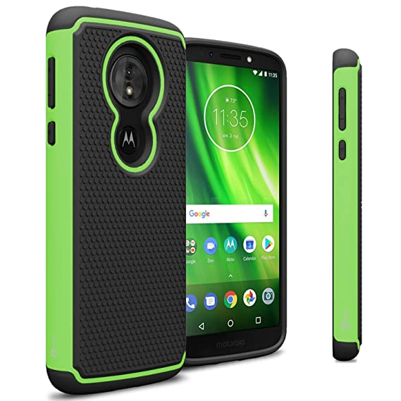 huge discount 37d96 384dd Motorola Moto G6 Play Phone Case, Motorola Moto G6 Forge Case, CoverON  HexaGuard Series Heavy Duty Protective Dual Layer Rugged Phone Cover -  Green on ...