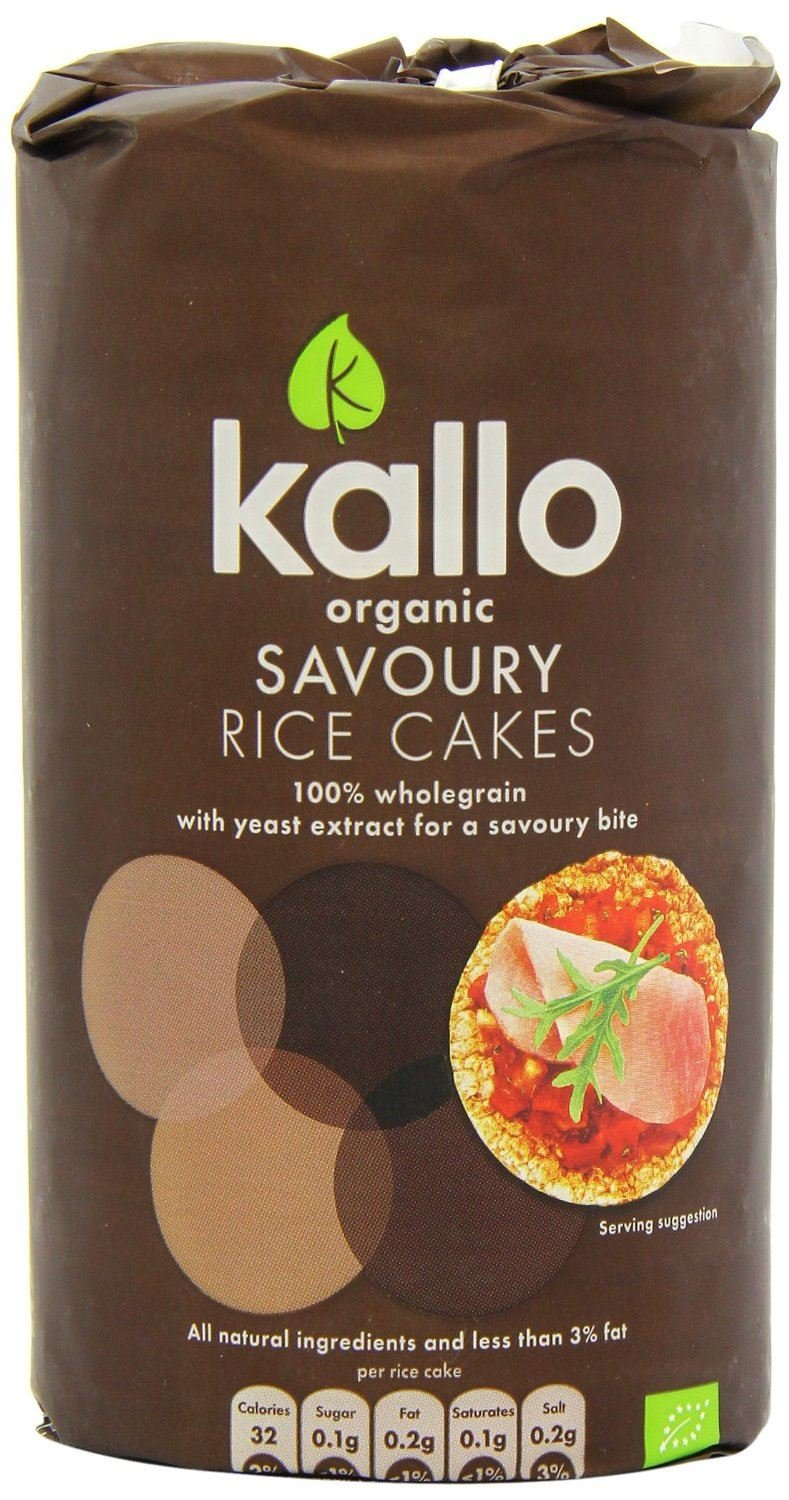 (6 PACK) - Kallo Savoury Rice Cakes - Organic | 110g | 6 PACK - SUPER SAVER - SAVE MONEY