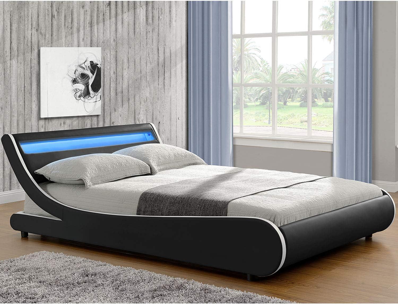 ArtLife Valencia - Cama tapizada (180 x 200 cm, con colchón ...