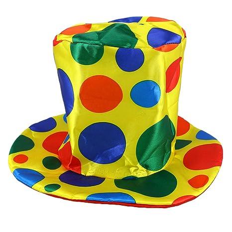 Amosfun Cappello a Cilindro Pagliaccio Cappello a Pois Accessori di  Carnevale Accessorio per Abito Fantasia per 080c75e699e2