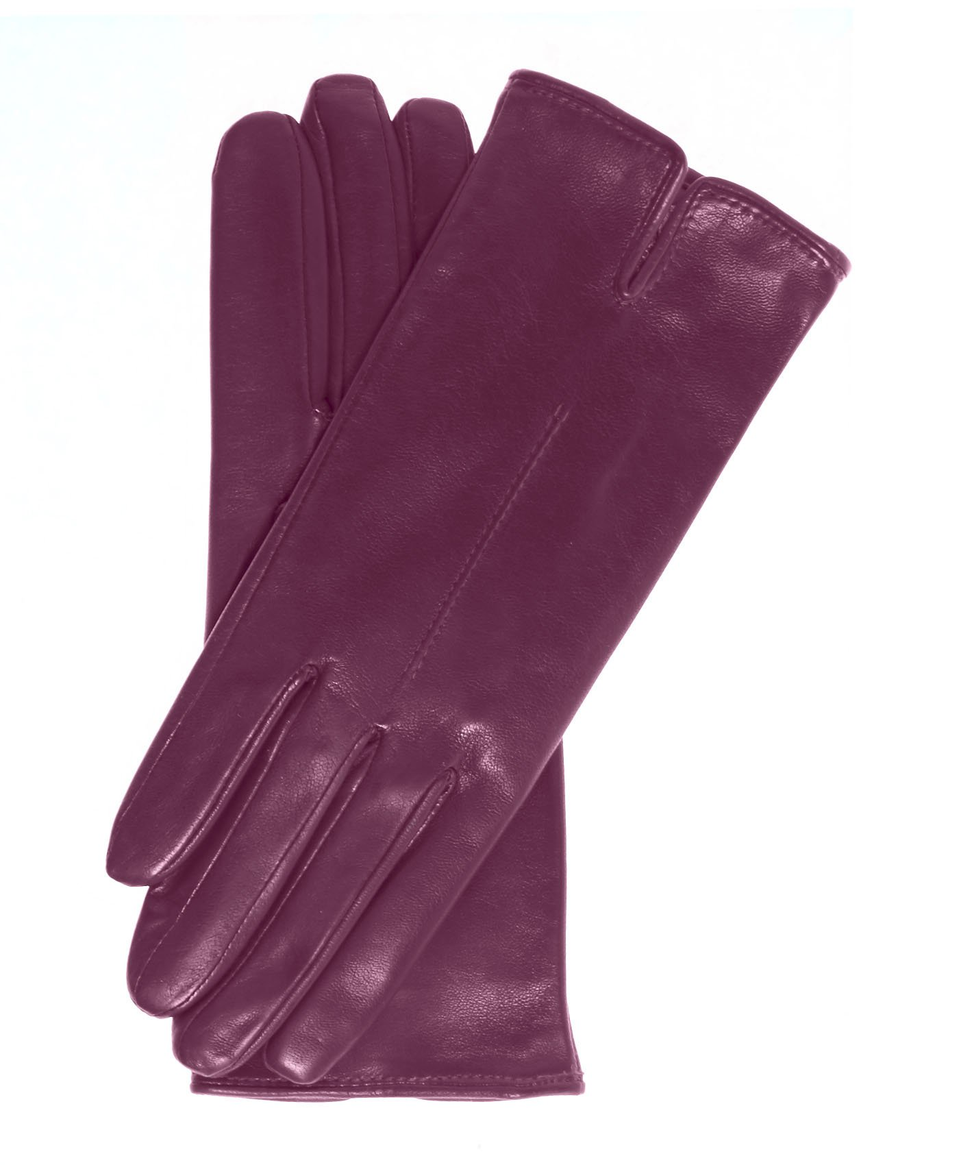 Fratelli Orsini Everyday Women's Italian Silk/Cashmere Lined Leather Gloves Size 7 1/2 Color Magenta