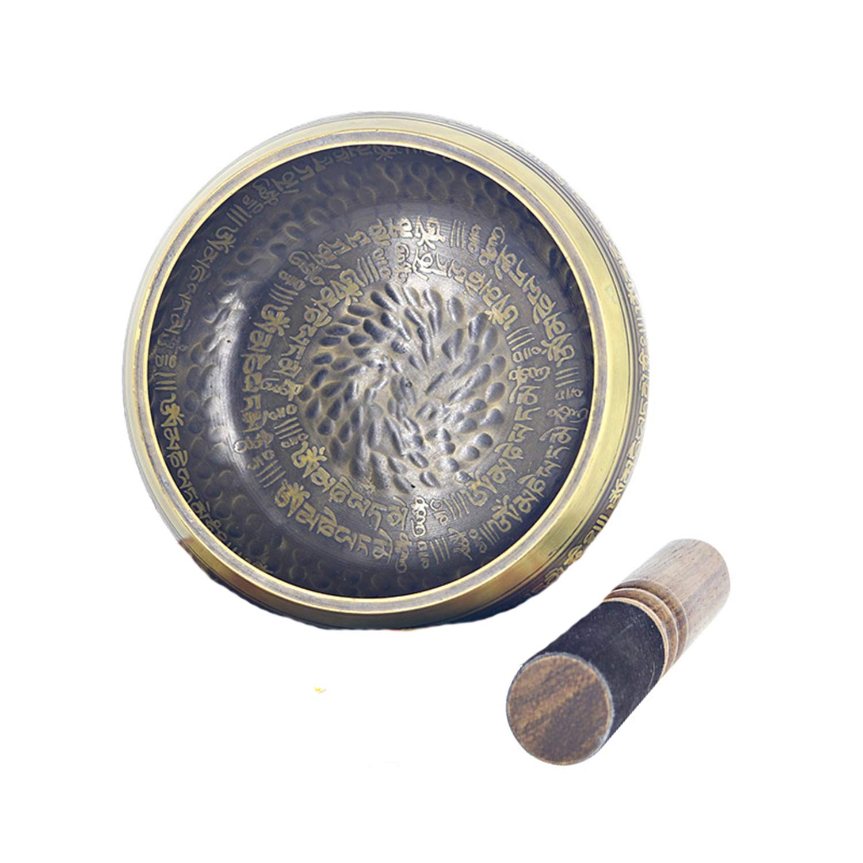 Cuenco tibetano de WTUG®, hecho a mano, con sonido sagrado ...