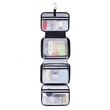 premium hanging toiletry bag travel kit for men and women xl 34u201dx11