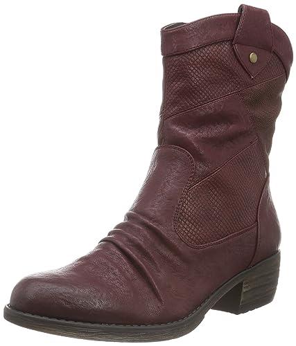 Rieker 93164, Bottes Classiques Femme, Rouge (Vino/Pomerol/Medoc/35), 42 EU