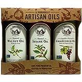La Tourangelle Artisan Oils Trio Walnut, Sesame, Grapeseed 25 Ounce