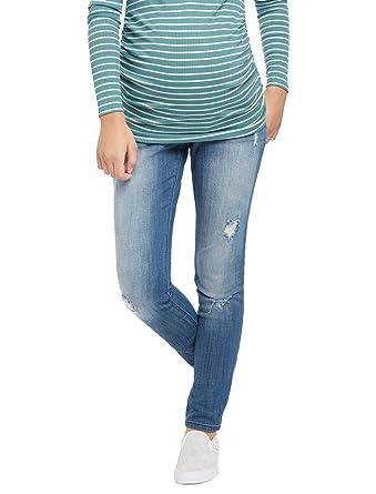 Motherhood Indigo Blue Premium Secret Fit Belly Skinny Leg ...