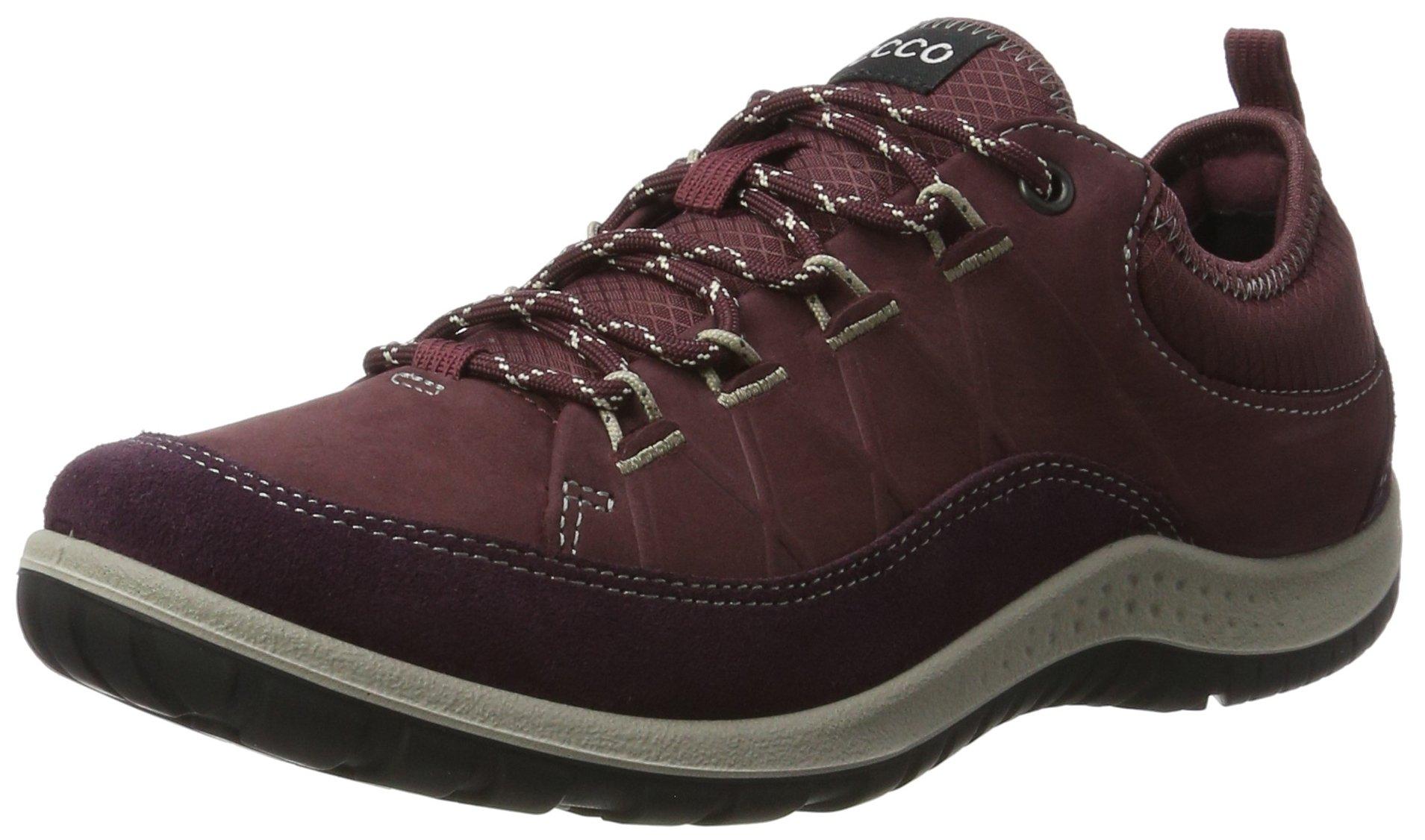 ECCO Women's Aspina Low Hiking Shoe, Mauve/Bordeaux, 37 EU/6-6.5 US