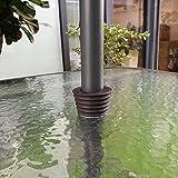 Do4U Umbrella Cone Umbrella Wedge Parasol Base Stand Patio Table Hole Ring Plug (Brown, 1 Pc)