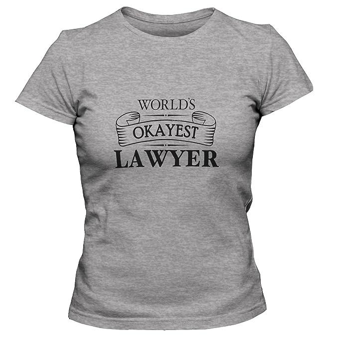 ShirtLoco Women's Worlds Okayest Lawyer T-Shirt, Athletic Heather Medium