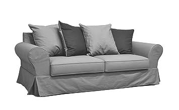 Sense Canapé 3 places en tissu gris et anthracite Gris - Alinea x207 ...