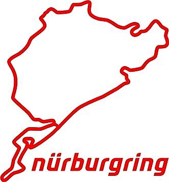 nurburgring aufkleber rot. Black Bedroom Furniture Sets. Home Design Ideas