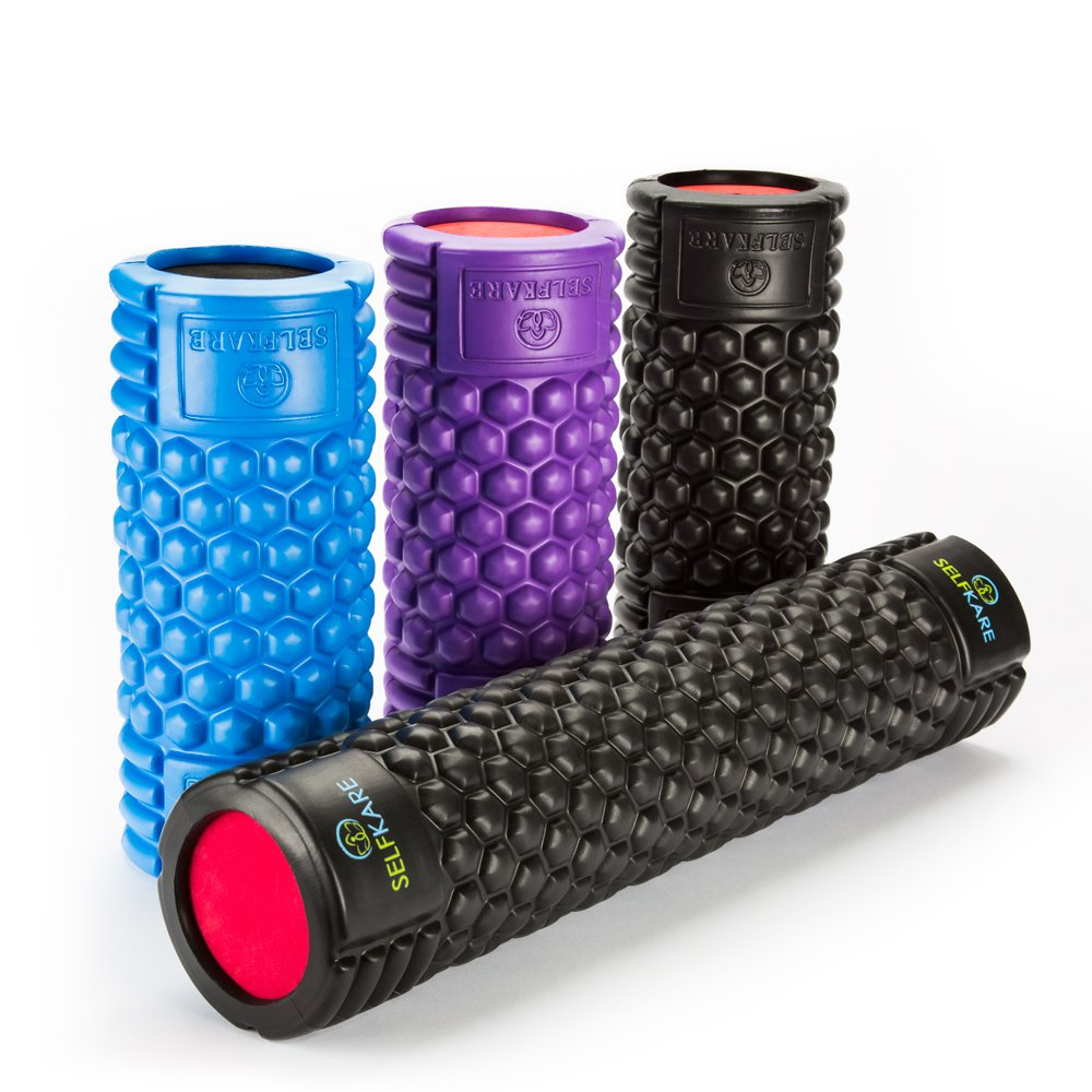 Foam Roller - 24 inch Long - Firm, Sturdy, Solid Core, High Density. Best Roller for Trigger Point Release on Back, Legs, IT Bands. by SelfKare Fitness (Image #4)