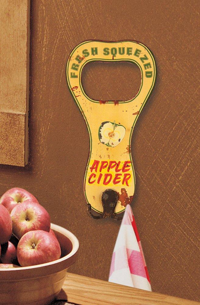 Manual Flea Market Apple Cider Metal Sign Towel Hooks IMSJAH Set of 2 by Manual Woodworkers (Image #1)