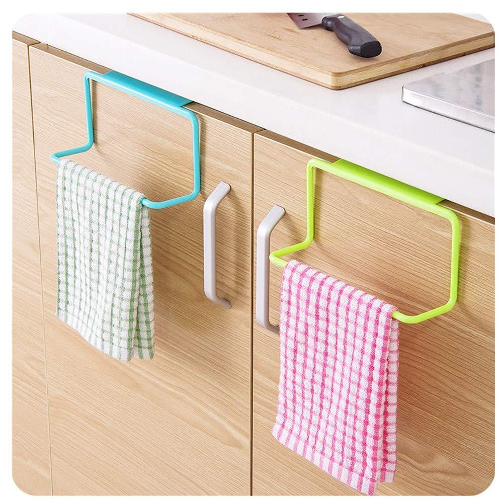 Promisen Towel Hanging Rack,Multifunction Towel Drying Rack Hook for Bathroom Kitchen Cabinet Cupboard Hanger Over Door (White)