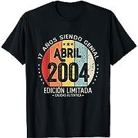 17 años Cumpleaños Nacido en Abril 2004 Regalo de 17 años Camiseta