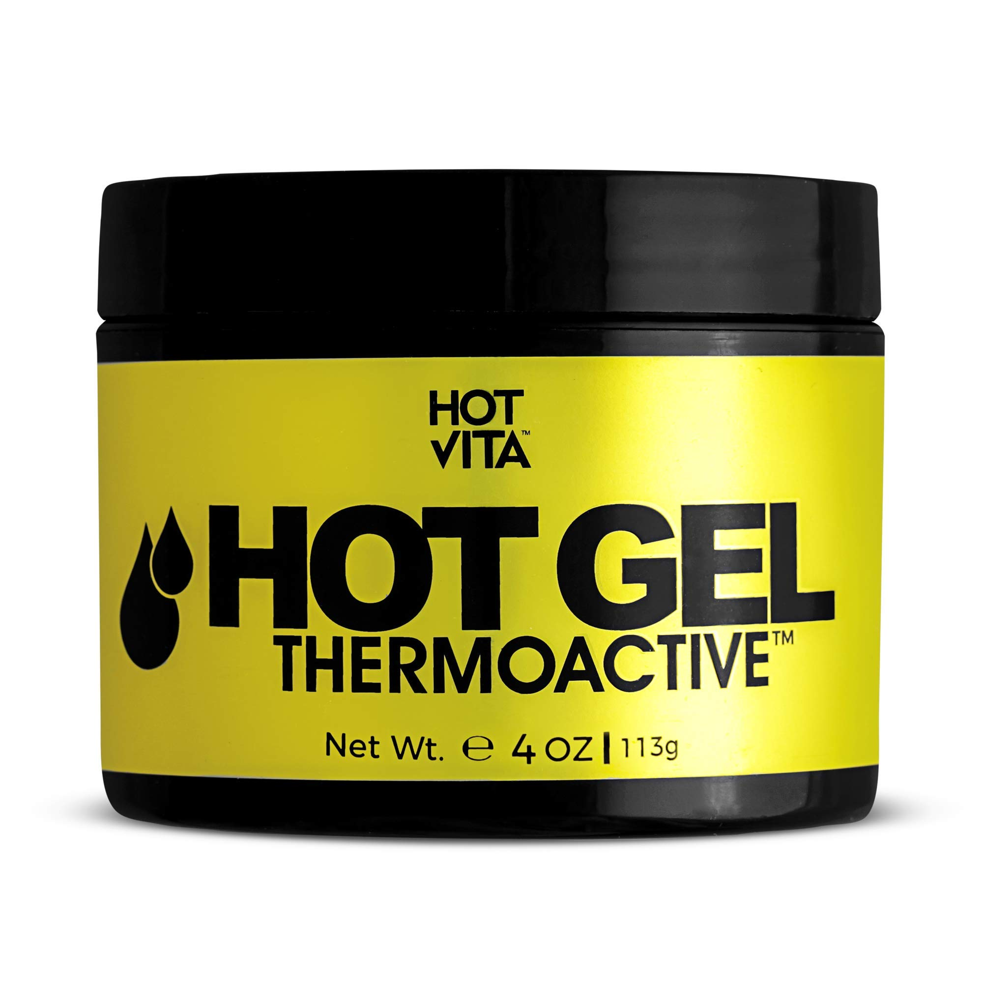 Hot Vita Hot Gel ThermoActive - Workout Enhancer Sweat Cream with Coconut oil, Jojoba Seed Oil, Coffee Arabica Seed Extract, Olive Oil and Green Tea Leaf Extract for Women (4 Ounce) by Hot Vita