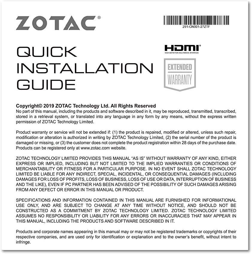 Active Fan Control Freeze Fan Stop ZT-A30600H-10M ZOTAC Gaming ...
