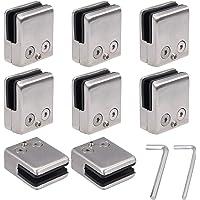 EyPiNS Abrazaderas de Cristal, 8 PCS Soporte de Vidrio Cuadrado Ajustable de Acero Inoxidable 304 para Barandilla de…