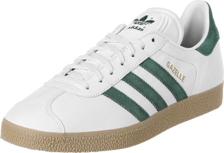 Adidas Gazelle S76226 in Vintage White Green Gum (13 UK): Amazon ...