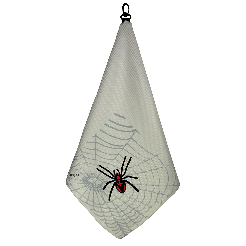 SPIDER Print Microfiber Tri-Fold Golf Towel Featuring Waffle Texture by BeeJo's   B0088KZLCQ