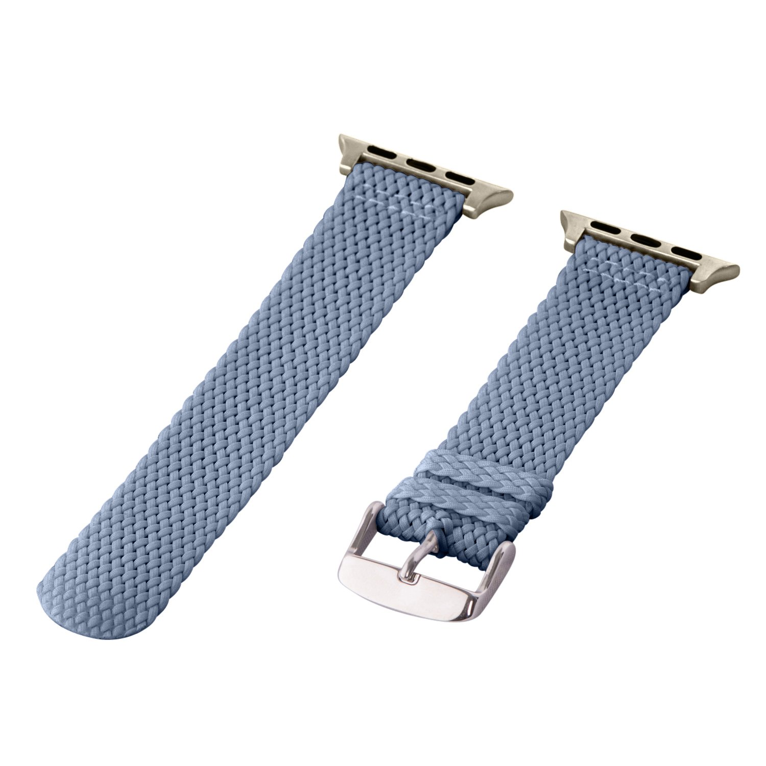 16aee069886 Amazon.com  Clockwork Synergy - 2 Piece Perlon Band (SS) Compatible for  38mm Apple Watch Series (Navy)  Watches