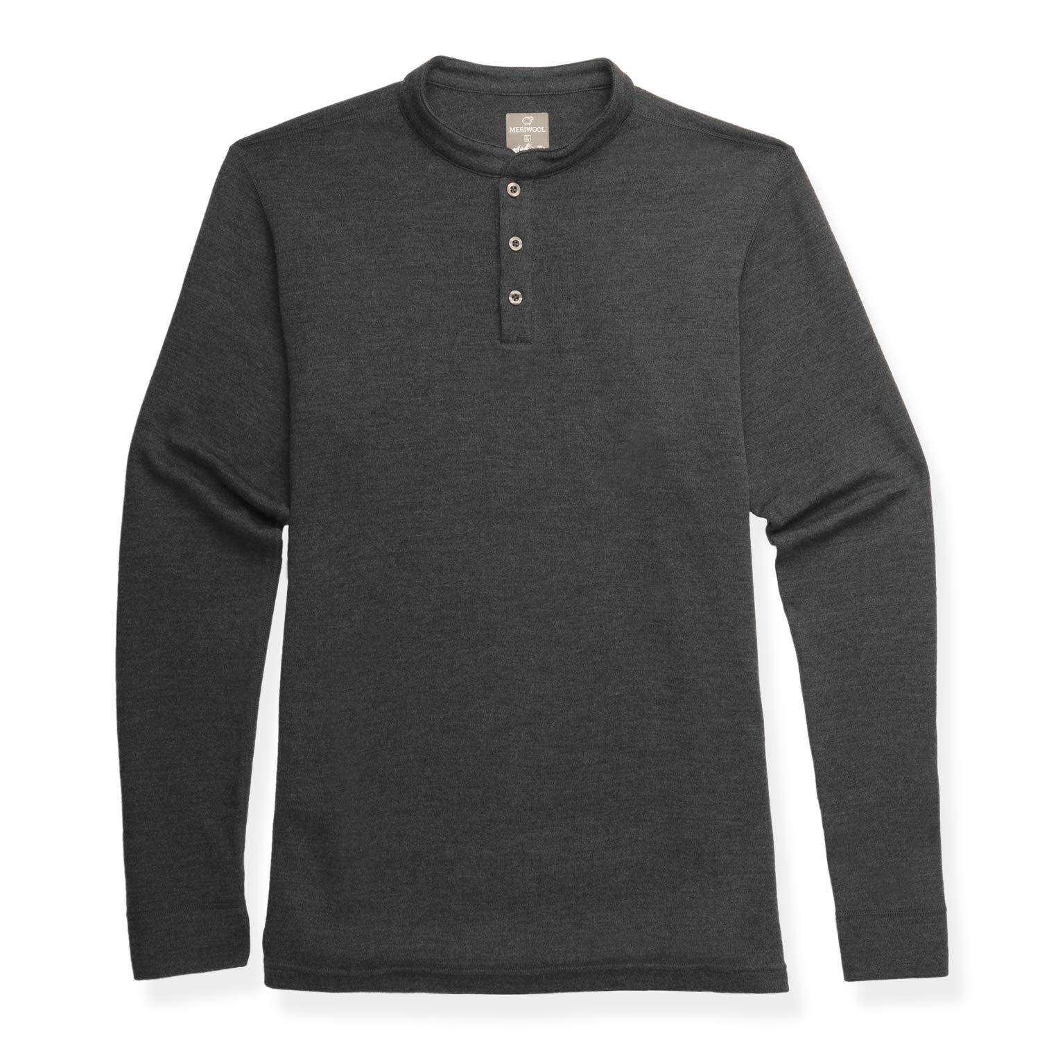 4e019bc2 MERIWOOL Mens Merino Wool Heavyweight Thermal Henley Pullover Top at Amazon  Men's Clothing store: