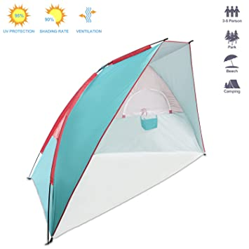 SpringBuds Extra Large Easy Up Beach Tent Outdoor Sun Shade Shelter 50 SPF Anti UV Protection  sc 1 st  Amazon.com & Amazon.com: SpringBuds Extra Large Easy Up Beach Tent Outdoor Sun ...