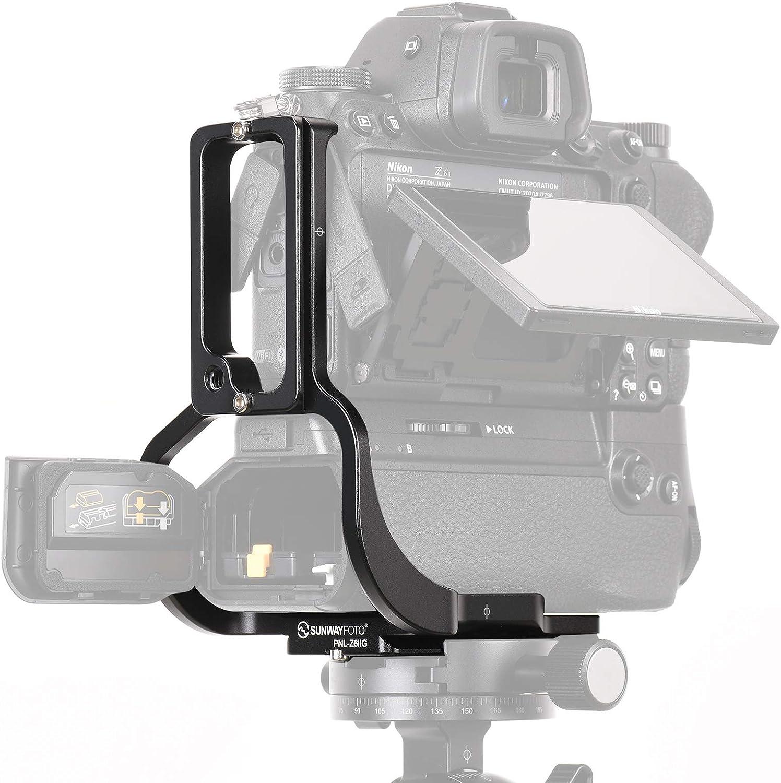 SUNWAYFOTO PNL-Z6IIG Custom L-Bracket for Nikon Z6II Z7II with Battery Grip MB-N11 Arca RRS Compatible