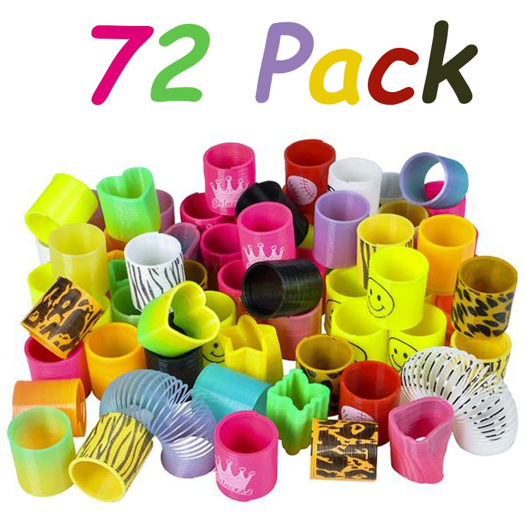 72 Pack Coil Spring Assortment By 4E/'s Novelty 1.5 Goodie Bag Stuffers 4E/'s Novelty 1.5 Goodie Bag Stuffers Varity of Designs Great Party Favor Toys for Children