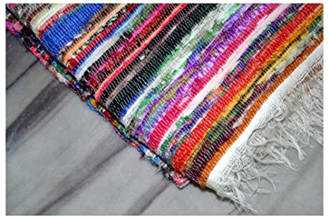 Amazon.com: Indian Bohemian Handmade Reversible Rug Braided ...