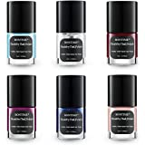 BONTIME Natural Nail Polish - Set of 6 Colors,Non-Toxic for Safe Manicure,90 Seconds Quick Dry & Easy Peel-off Water Based Nail Polish,0.18 fl.oz