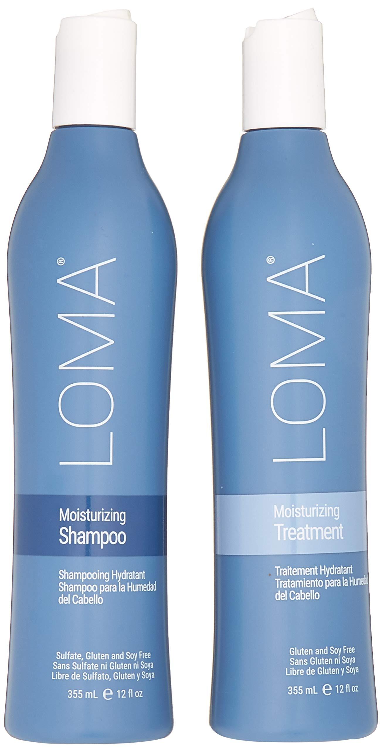 Loma Hair Care Moisturizing Shampoo Moisturizing Treatment Duo, 12 oz. by Loma Hair Care