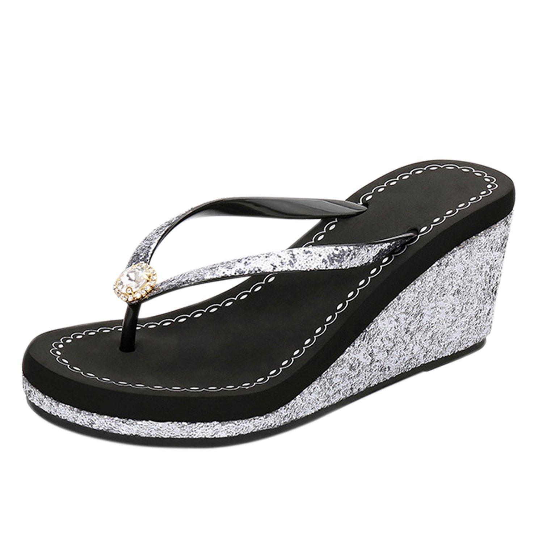 Frestepvie Tongs Compensée Flip Paillettes Mode Femme Femme B001949G88 Fille Mule Eté Sandales Clip Toe Flip Flops Comfortable Chaussure de Plage Noir c84e9ad - boatplans.space