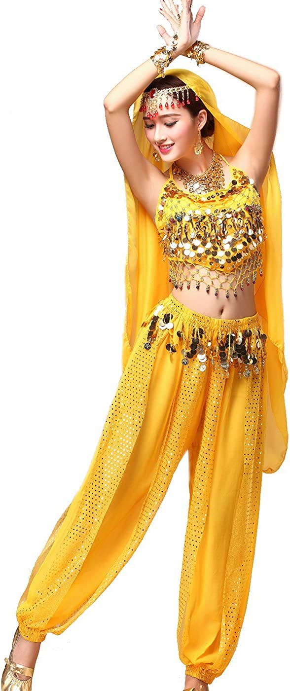 Astage Women`s Belly Dance Carnival Costume Set All Accesorries