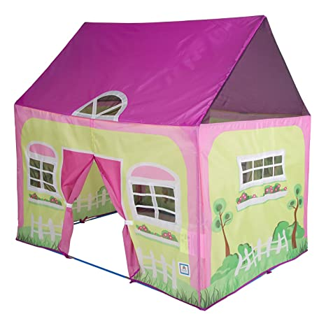 amazon com pacific play tents kids cottage play house tent rh amazon com butterfly cottage playhouse tent children's cottage tent