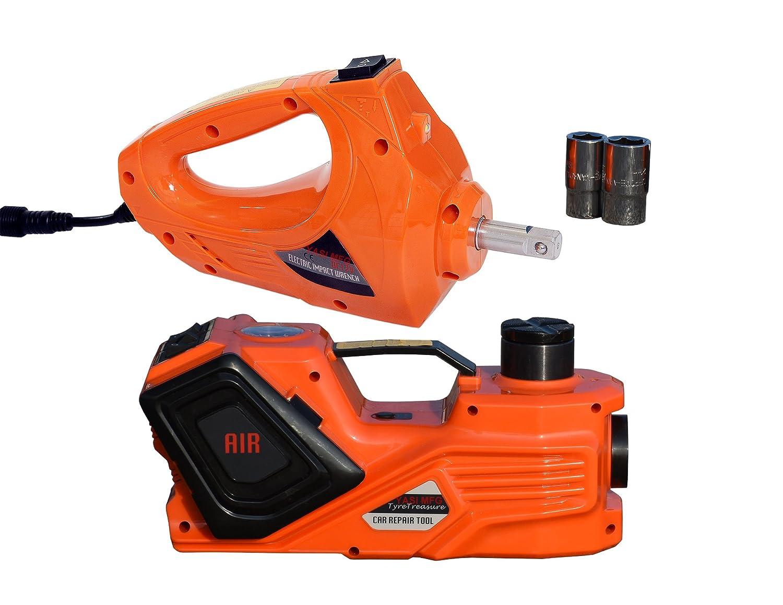 YASI MFG 5000/kg elettrico idraulico jack elettrico idraulico Lifter 45/cm elettrica a impatto 480/N.m Torque doppio prese jack Car kit di riparazione per tutti i furgoni auto camion SUV 12/V