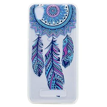 case cover para ZTE Blade A452,Crisant plumas azules Diseño ...