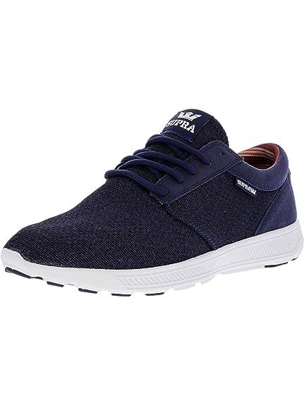 2c549dca23bf Supra Men s Hammer Run Blue Nights Heather White Ankle-High Running Shoe -  9M
