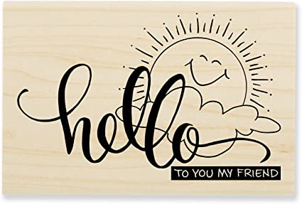 Amazon.com: Stampendous Wood Stamp, Sunny Hello: Arts, Crafts & Sewing