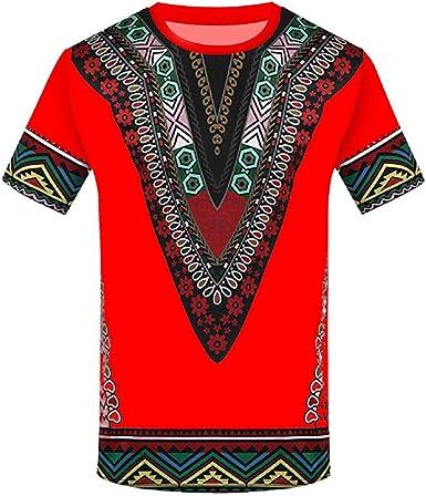 Camisetas De Los Hombres Camiseta De Manga Corta De Verano Camisa De Moda ÉTnica Vintage Camiseta Impresa Tops Verano Hombre 2019 Camisas Camisa Casual para Hombre Fiesta Camiseta Resplend: Amazon.es: Ropa y