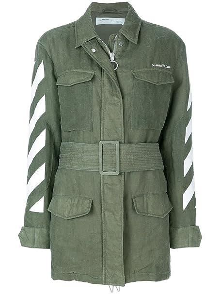 mejor baratas 7d442 8fd35 OFF-WHITE - Abrigo - para Mujer Verde Talla de la Marca 40 ...