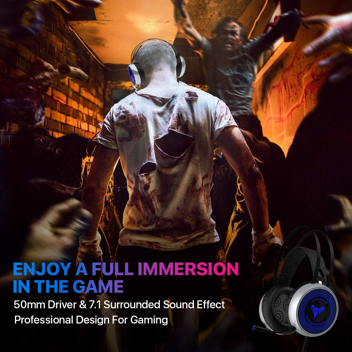 [Newest 2019] Gaming Headset for Xbox One, S, PS4, PC with LED Soft Breathing Earmuffs, Adjustable Microphone, Comfortable Mute & Volume Control, 3.5mm Adapter for Laptop, PS3, Nintendo by TBI Pro (Image #6)